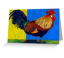 Rooster Pastels Greeting Card