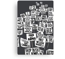 Get Up Stand Up Canvas Print
