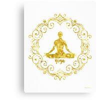 Yoga Golden Canvas Print