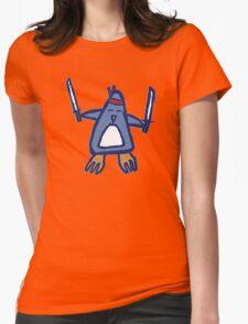 Penguin Ninja Womens Fitted T-Shirt