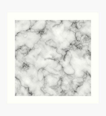 White Marble #redbubble #lifestyle Art Print