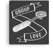 Group Love - White and Grey Edition Canvas Print