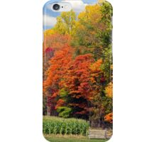 Autumn Trees and Cornfield iPhone Case/Skin