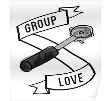 Group Love - Black and White Edition Poster