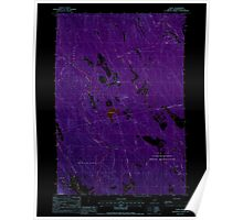 Maine USGS Historical Map Waite 103069 1988 24000 Inversion Poster