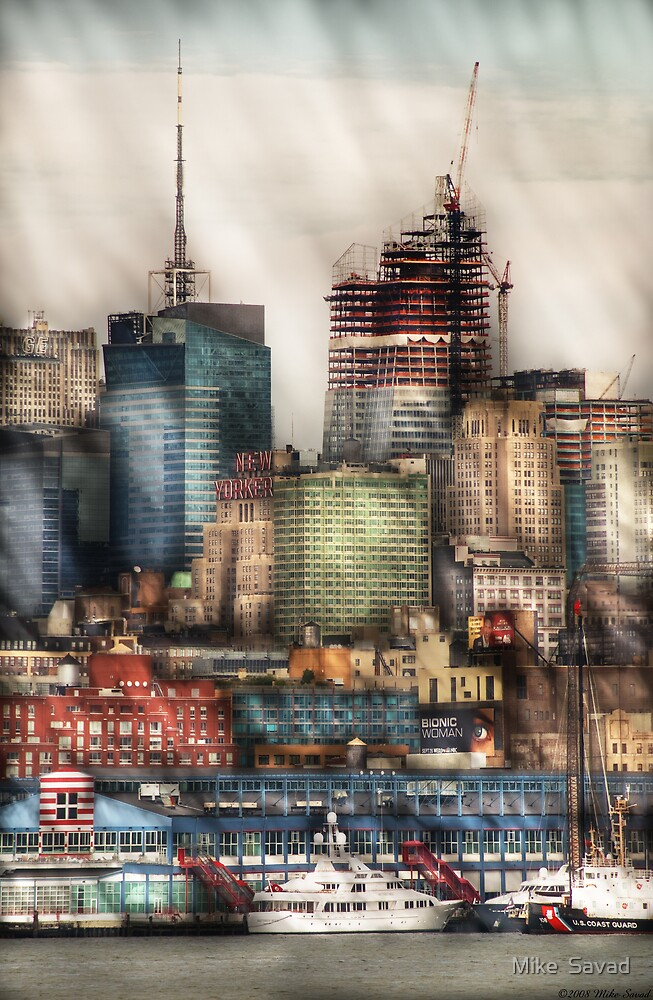 New York Sky Scrapers by Mike  Savad