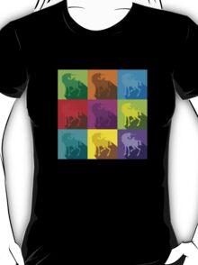 Uniquely quilty colourful Unicorn pattern T-Shirt