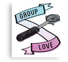 Group Love - Tri Colour Edition Canvas Print