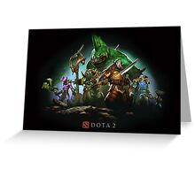 Dota 2 Splash Art Video Game Greeting Card