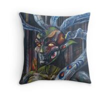 Gnarly No Mouth Throw Pillow