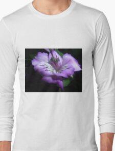 Purple Flora Long Sleeve T-Shirt