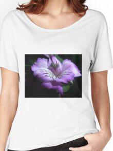 Purple Flora Women's Relaxed Fit T-Shirt