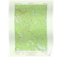 Maine USGS Historical Map Waite 306836 1940 62500 Poster