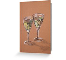 Two Glasses of White Greeting Card