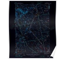 Maine USGS Historical Map Waite 461004 1942 62500 Inversion Poster
