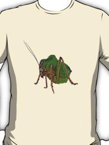 Katydid Vector On A Black Background T-Shirt