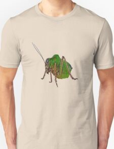 Katydid Vector On A Black Background Unisex T-Shirt