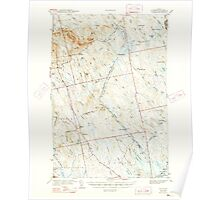 Maine USGS Historical Map Waite 461004 1942 62500 Poster