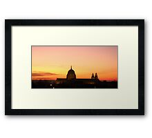 Cathedral at Sunset Framed Print