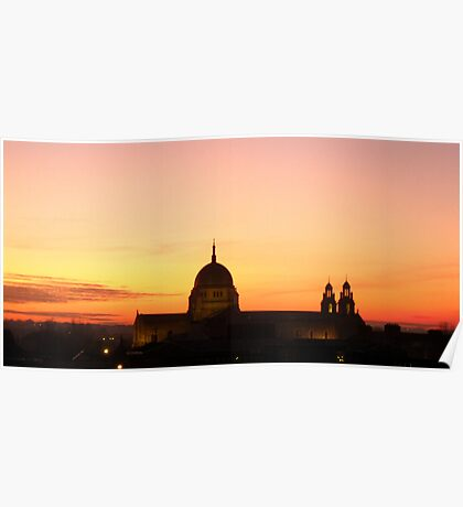 Cathedral at Sunset Poster