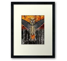 the heart of crow Framed Print