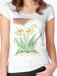 Glorious Daffodils Women's Fitted Scoop T-Shirt