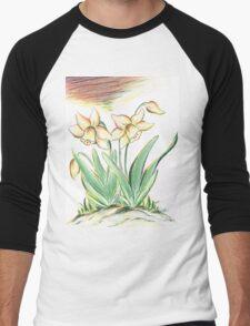 Glorious Daffodils Men's Baseball ¾ T-Shirt