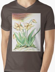 Glorious Daffodils Mens V-Neck T-Shirt