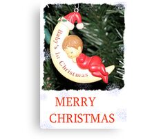 CHRISTMAS CARD-BABY`S FIRST CHRISTMAS #1 Canvas Print