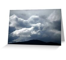 Faces in the Sky Greeting Card