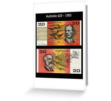 Australia $20 - 1985 Greeting Card