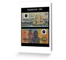 Australia $10 - 1991 Greeting Card