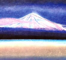 """DREAM OF """"EL TEIDE"""" WITH PINK CLOUD - THE HIGHEST MOUNTAIN OF SPAIN - Pastel-Design by RubaiDesign"""