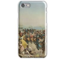 Louis Lang (1814–1893), Return of the 69th (Irish) Regiment, N.Y.S.M. from the Seat of War, 1862. Oil on canvas. iPhone Case/Skin