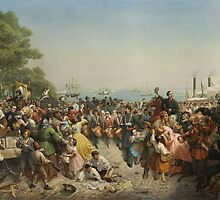 Louis Lang (1814–1893), Return of the 69th (Irish) Regiment, N.Y.S.M. from the Seat of War, 1862. Oil on canvas. by Adam Asar