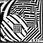 Monkey Close Up Maze in op art style by Elenapinker
