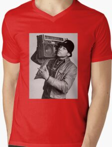 LL Cool J B/W Mens V-Neck T-Shirt