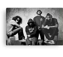 Black Hippy B/W Metal Print