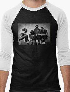 Black Hippy B/W Men's Baseball ¾ T-Shirt