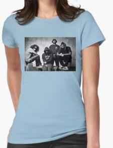 Black Hippy B/W Womens Fitted T-Shirt