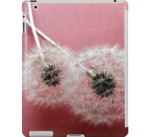 Puffballs on Red Paper iPad Case/Skin