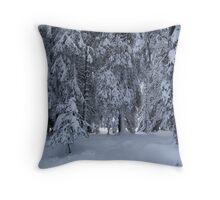 white forest Throw Pillow