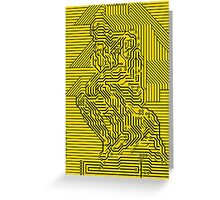 thinker chip Greeting Card
