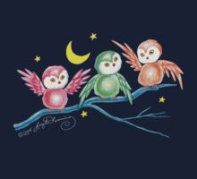 We Three Owls (T-Shirt) by AngelArtiste