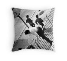 School Riots Throw Pillow