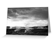 Prehistoric Landscape - Rotorua, New Zealand Greeting Card