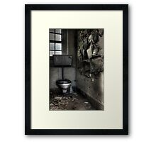 Wall peel Framed Print