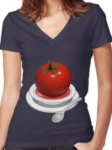 Love apple soup... Women's Fitted V-Neck T-Shirt