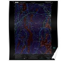 Maine USGS Historical Map Waldoboro West 461009 1965 24000 Inversion Poster