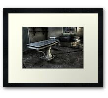 Exit this way please Framed Print